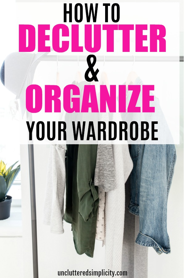 declutter your wardrobe and organize your wardrobe in 5 simple steps #declutterwardrobe #organizewardrobe #declutter #organize #clothes