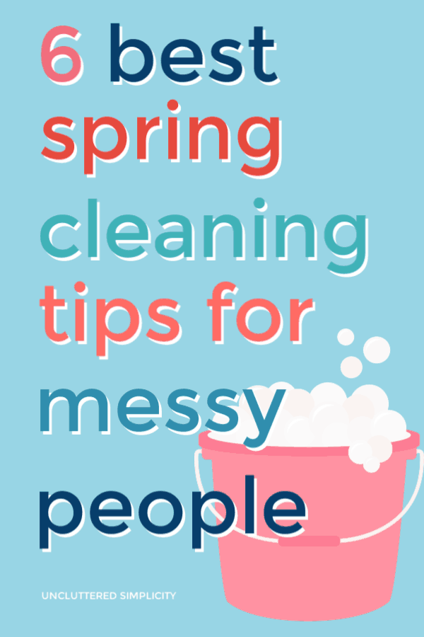 Do you hate to clean but love having a clean house? If so, you need this list of spring cleaning hacks for (normally) messy people.