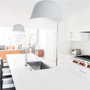 clean white modern kitchen