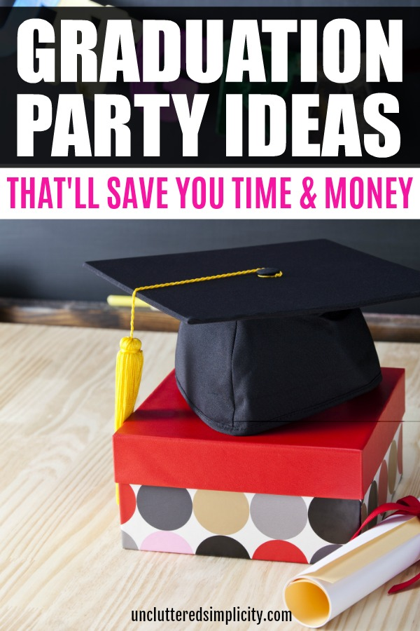 Here are some fantastic DIY graduation party ideas that you can pull off on a tight budget. #graduation #grad #graduationparty #highschoolgrad