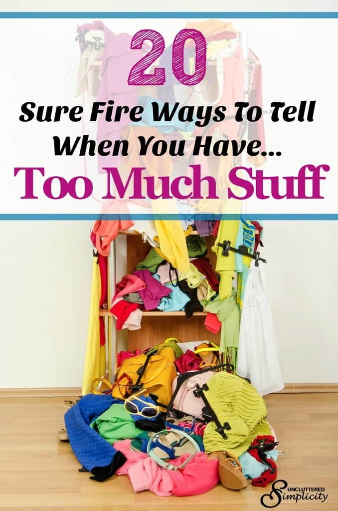 too much stuff | live with less | declutter your home #declutter #simplify #toomuchstuff #hoarding
