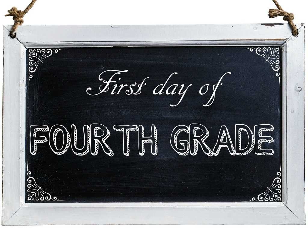 Free First Day of School Photo Printables-4th