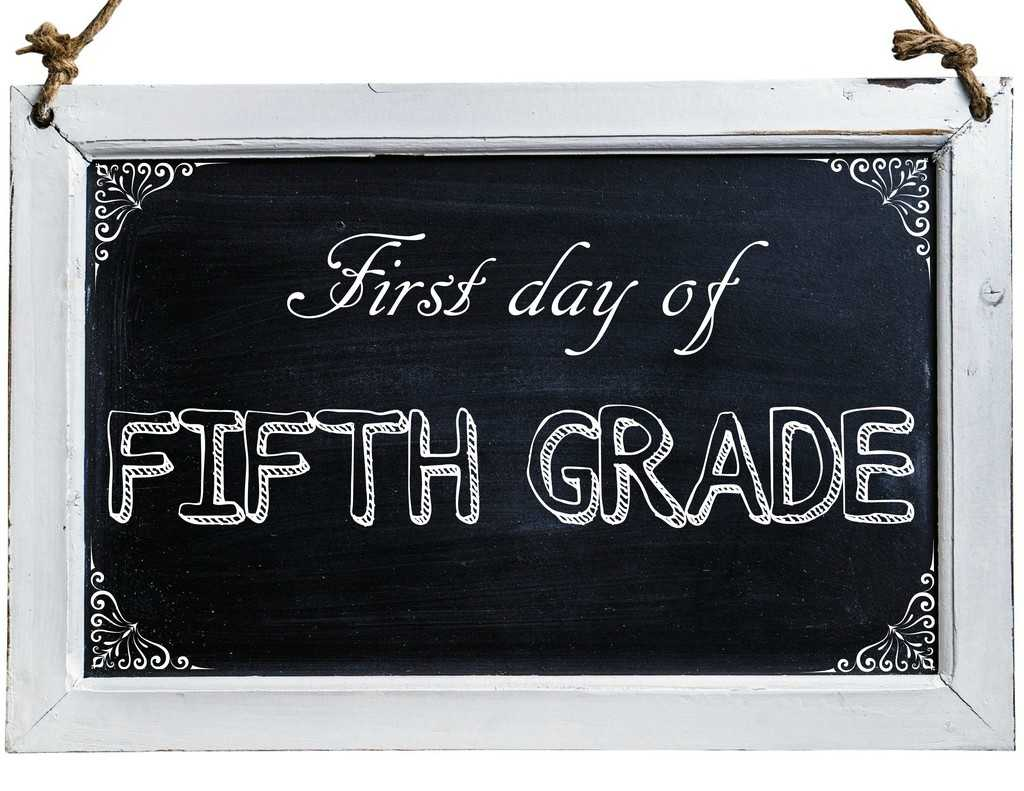 Free First Day of School Photo Printables-5th