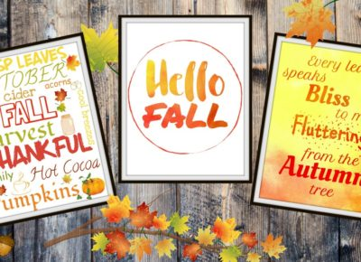 10 Free Fall Printables That Will Make You Enjoy Autumn Even More