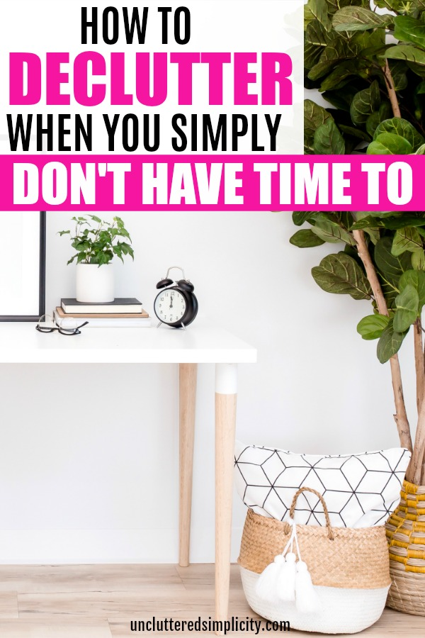 how to declutter one thing at a time in 15-minute blocks of time #declutter #simplify #decluttering #clutterfreehome #howtodeclutter