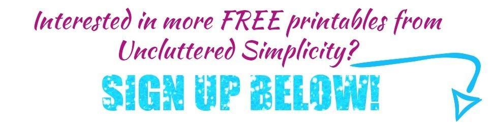 more free printables