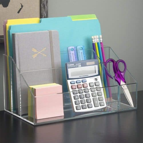 acrylic desktop organizer Gift Guide for Messy People