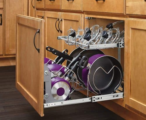 pull out cabinet organizer | Gift Guide for Messy People