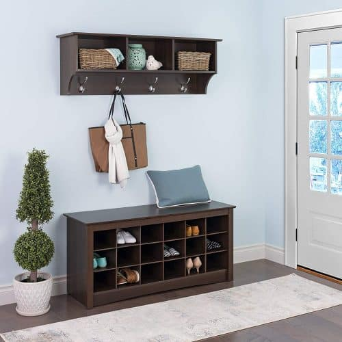 Entryway storage shelf Gift guide for messy people