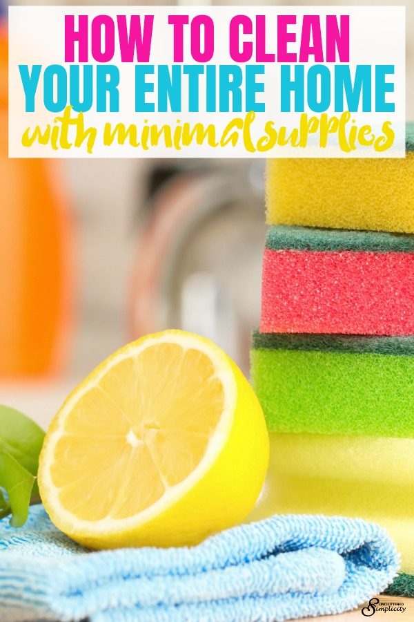 minimalist cleaning supplies | how to clean your home without a lot of stuff | #homemadecleaners #diycleaners #cleanhome #cleaningtips