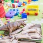 pile of random toys on floor