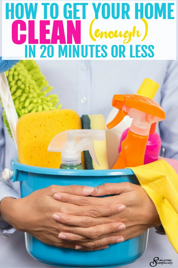Free Quick Clean Checklist: How to Clean Your Home In 20 Minutes or Less #cleaningtips #howtoclean #cleanhome