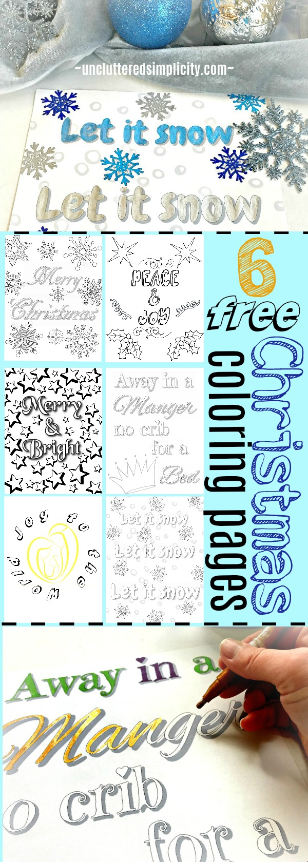 Free Printable Christmas Coloring Pages for Adults #christmascoloring #christmas2017 #freechristmasprintables #coloringpagesforadults