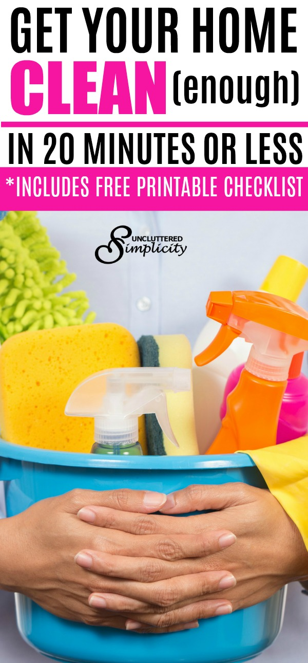 quick clean | printable cleaning checklist | how to clean your home fast | clean for company | how to clean up fast when company is coming | cleaning hacks | #cleaning #cleaningtips #freeprintables #cleaningchecklist