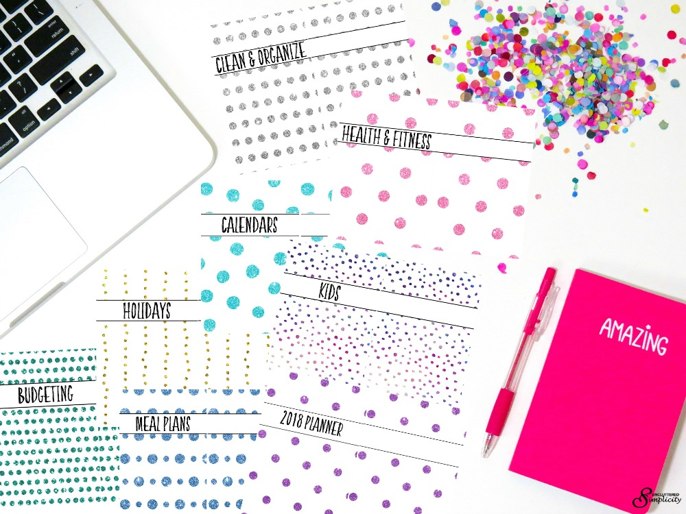 Free Half Size Printable And Editable Planner Covers And Dividers