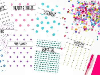 Free Full-Size Printable And Editable Planner Covers And Dividers