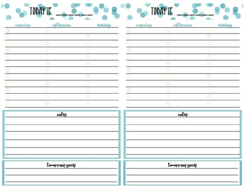photo relating to Daily Calendar Printable called Totally free Printable Every day Calendar Planner Web site