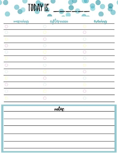 image about Free Daily Calendar identified as Free of charge Printable Day-to-day Calendar Planner Web page