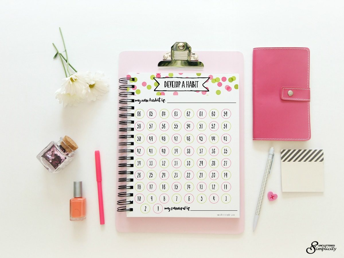Free Printable Habit Tracker-To Help You Rock Your Goals