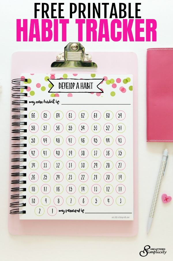 photograph relating to Habit Tracker Free Printable titled Totally free Printable Pattern Tracker-Towards Assistance Oneself Rock Your Plans