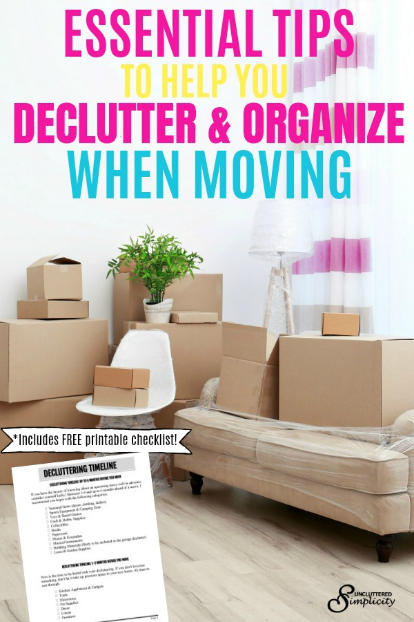 moving tips   moving hacks   decluttering before a move   stay organized when moving   moving house   #declutter #movingtips #howtodeclutter #organize