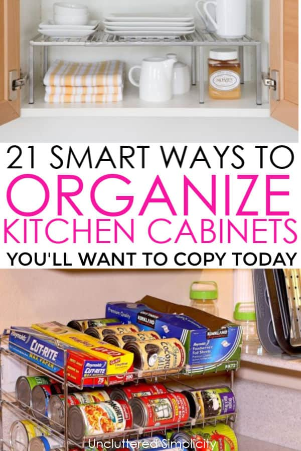 21 Ways To Organize Kitchen Cabinets You\'ll Kick Yourself ...