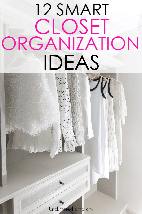 Cramped, cluttered closets getting you down? You need to check out this list of 12 smart diy closet organization ideas that anyone can do! #closetorganization #organizedcloset #organization