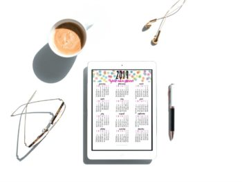 Free Printable 2019 Year At A Glance Calendar To Plan Your Year