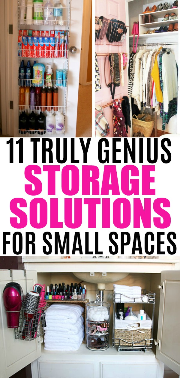 Storage ideas for small spaces that are truly genius-try these smart affordable diy ideas to organize your small space