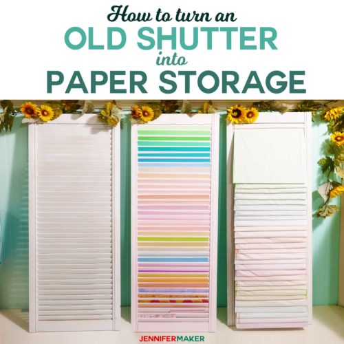 diy paper organizer made out of shutters paper organization