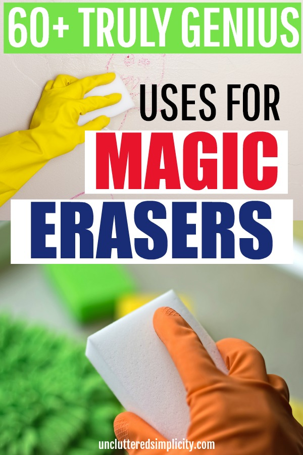 I'll bet you didn't know about some of these genius magic eraser uses! #cleaningtips #deepclean #cleanhome