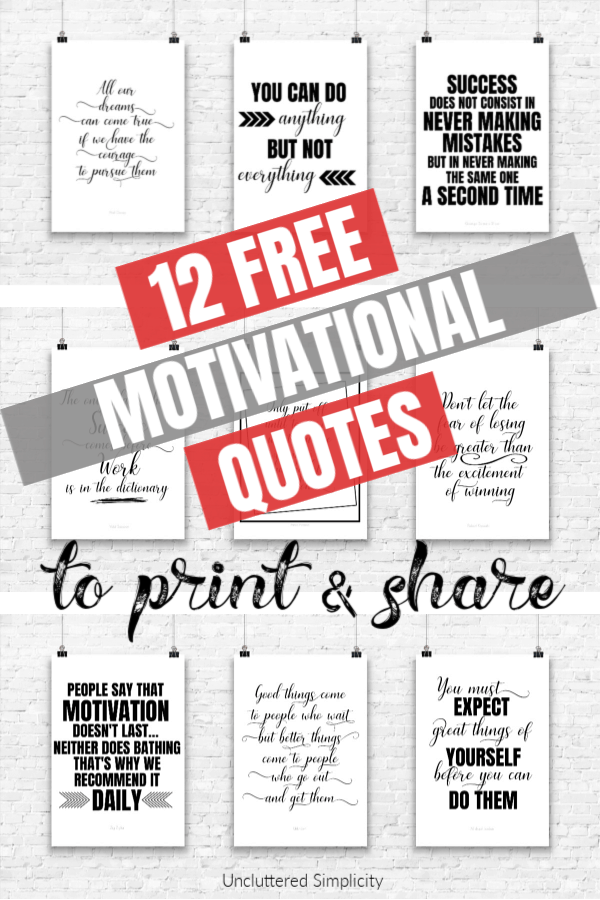 image about Printable Motivational Quotes known as 12 No cost Printable Rates Towards Persuade Yourself The moment By yourself Appear Which include