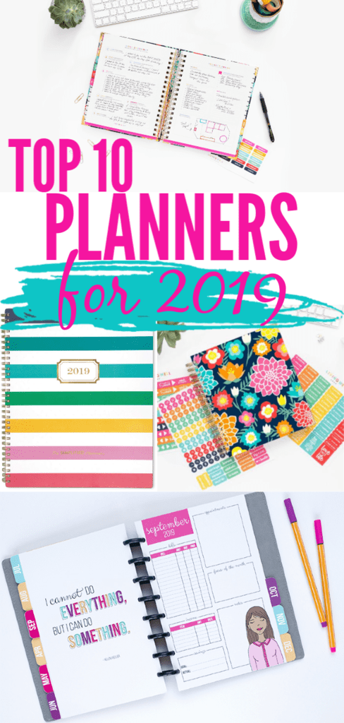 Best planners and home organizers for planner addicts everywhere! #plannergirl #planners