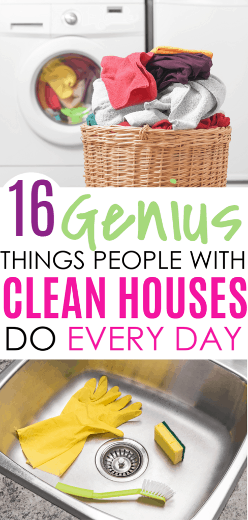 16 Genius Things People With Clean Houses Do Every Day #cleaningtips #cleanhome #clean