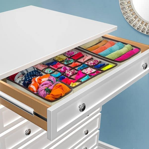 organized drawer-bedroom organization ideas