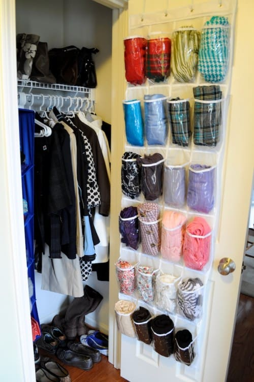 how to organize a bedroom with back of the door shoe organizers