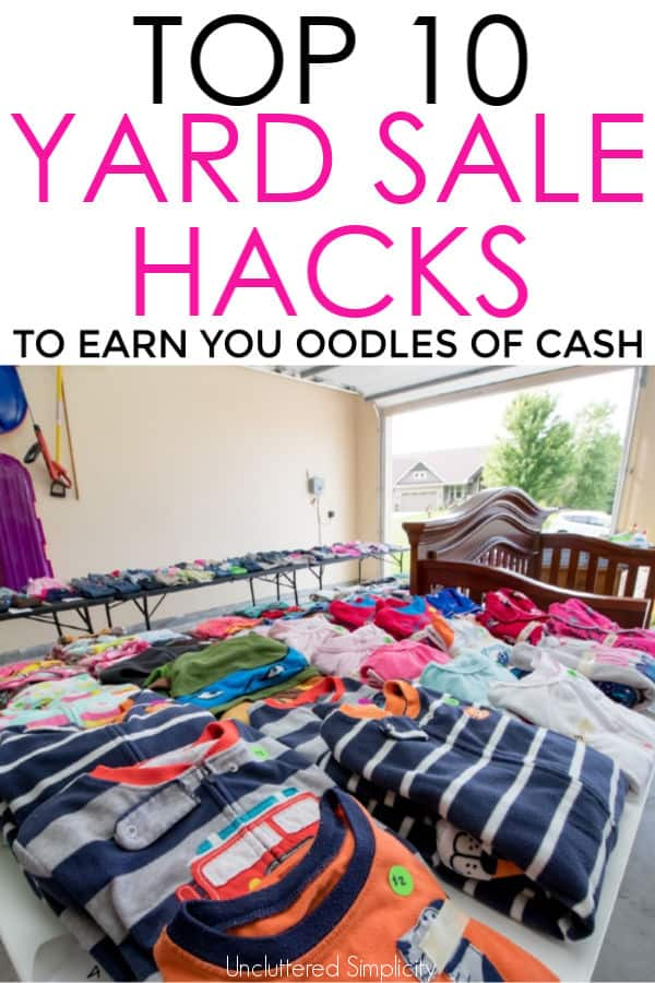 10 yard sale tips thatll earn you cash with free