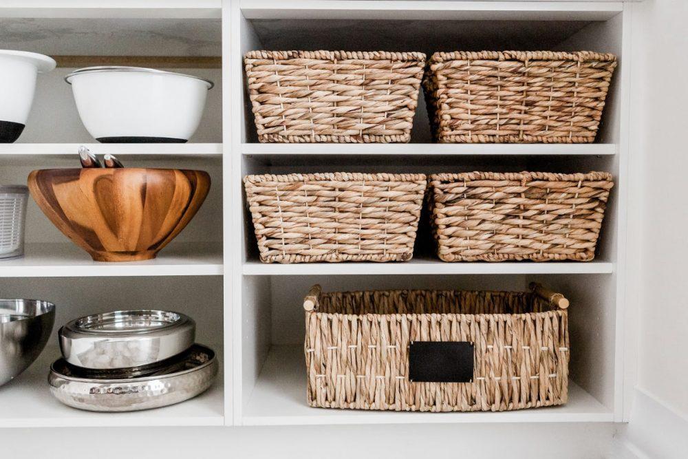 kitchen cabinet organization ideas with baskets