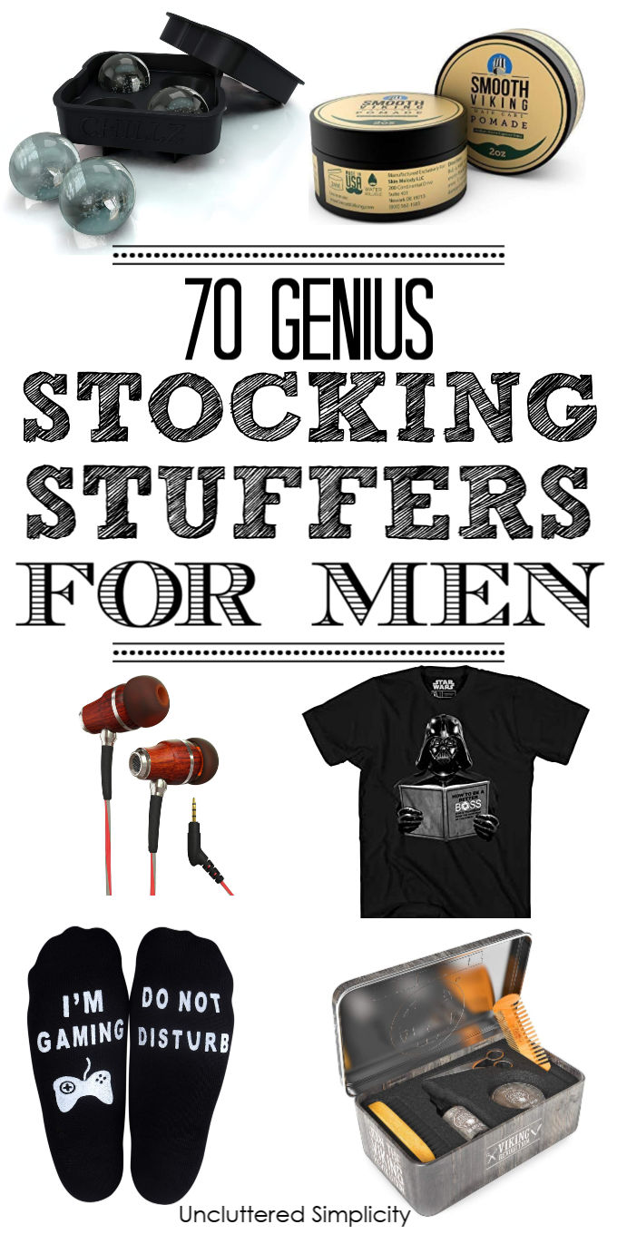 Check out this handy gift guide for the special men in your life. Includes $5 stocking stuffer ideas for husbands, boyfriends, dads, plus small gift ideas for handymen, tech lovers, gamers, and so much more. These affordable Christmas stocking stuffer ideas are sure to please!