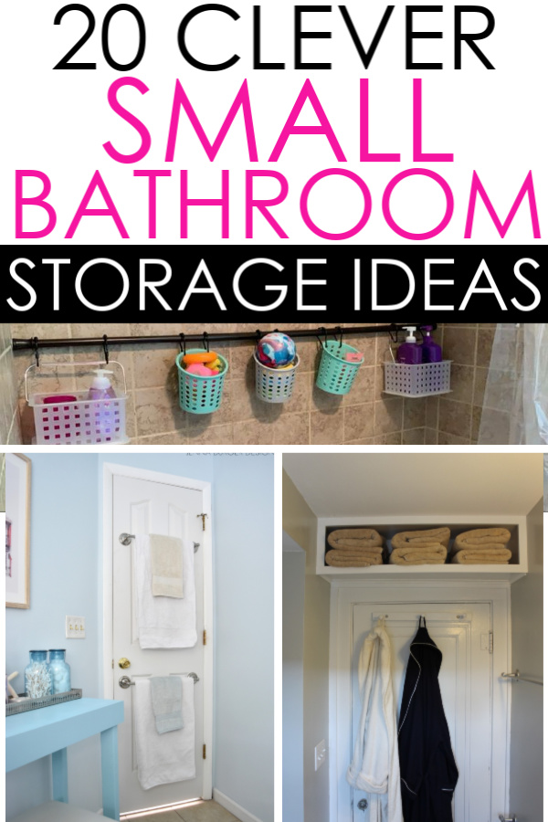 Organize your small bathroom with these genius storage ideas. They are so easy, you'll wonder why you didn't try them sooner!