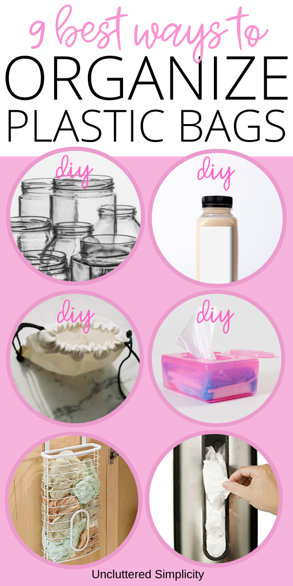 pin best ways to store plastic bags