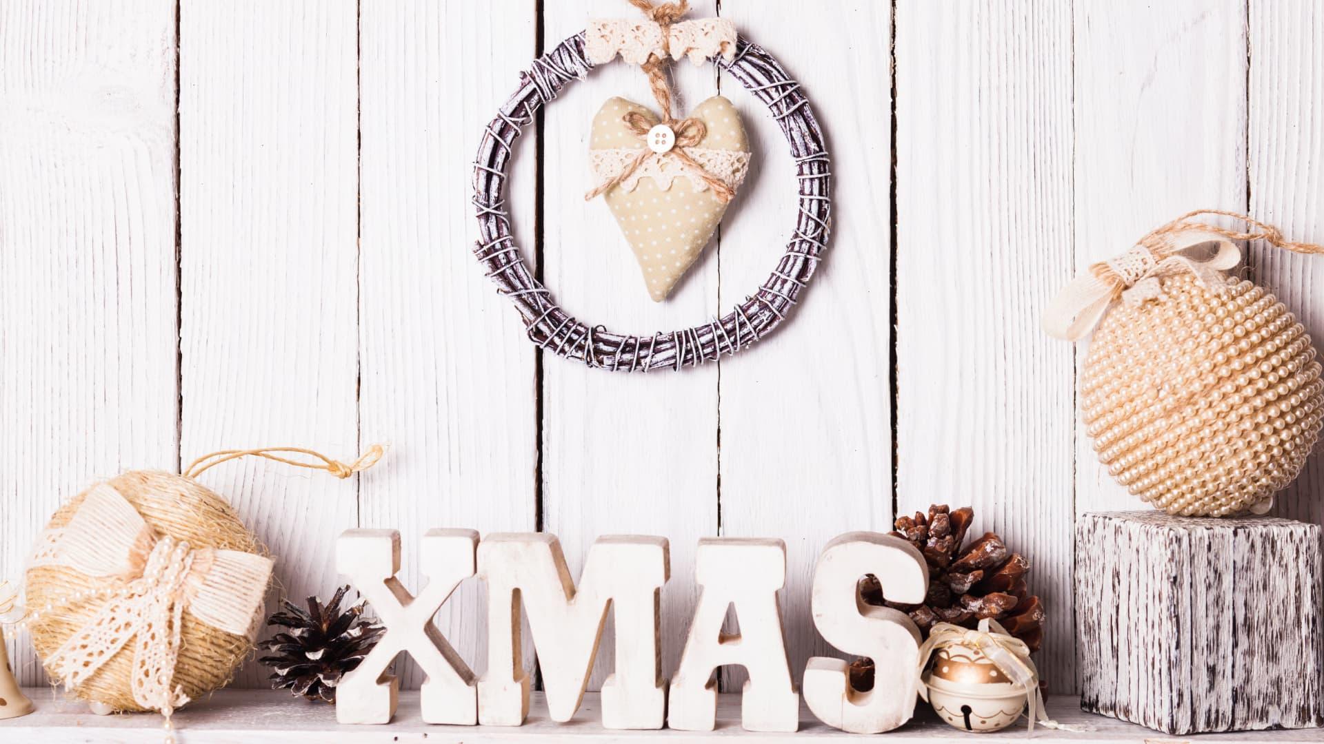 Christmas ornament storage header